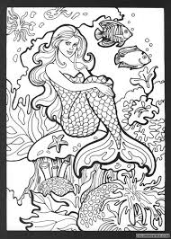 Printable the little mermaid coloring page to print and color. Beautiful Mermaid Coloring Pages Printable Coloring4free Coloring4free Com