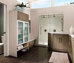 modern bathroom furniture. Modern Bathroom Cabinets In Thermofoil By Kitchen Craft Cabinetry Furniture