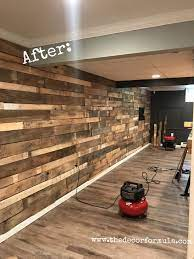 Diy Pallet Walls The Who What Where How Of Our Beautiful Pallet Wall The Decor Formula