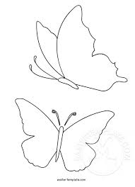 Butterfly Shapes To Print Easter Template
