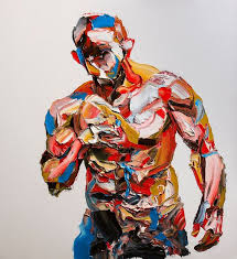 in the iranian artist salman khoshroo s artworks the layers of paint are executed on top of each other and the forms associate to give birth to life size