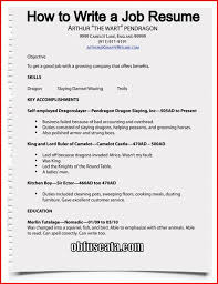 How To Make A Resume For A Job Amazing How To Write Resume For Un Jobs