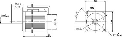 130mm diameter brushless motor high torque wiring diagram