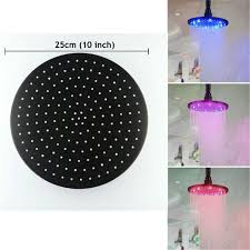 10 inch stainless steel round led rain shower head oil rubbed bronze ld8030 d6 led rain shower head shower head rain shower head with 90 32 piece