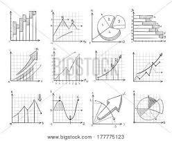 Line Chart Sketch Cartoon Sketch Vector Photo Free Trial Bigstock
