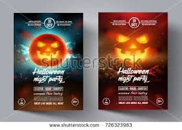halloween template flyer pumpkin halloween flyer template download free vector art stock