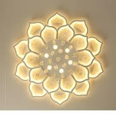 White Acrylic Modern <b>Chandelier Lights For</b> Living Room Bedroom ...