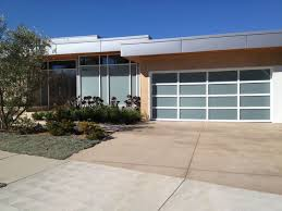 aluminum glass doors with matching house garage door