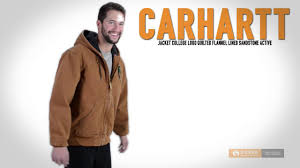 Carhartt College Logo Quilted Sandstone Active Jacket - Flannel ... & Carhartt College Logo Quilted Sandstone Active Jacket - Flannel Lined (For  Men) Adamdwight.com