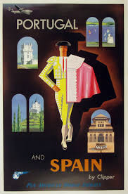 Jean Carlu Vintage Pan Am Clipper Spain Travel Poster