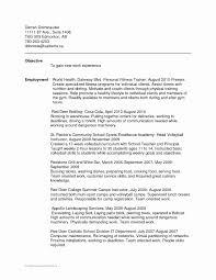 Resort Personal Trainer Sample Resume Unique Popular Dissertation