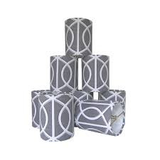 amazing clip on lamp shades urbanest chandelier set of 6 soft bell 3 x 5