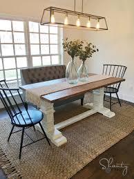 DIY Farmhouse Pedestal Table - Free Plans & Video Tutorial
