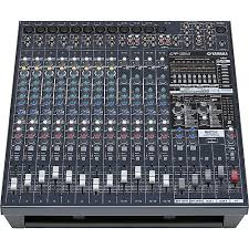 yamaha mixer. yamaha emx5016cf 16-input powered mixer with dual 500-watt power amps