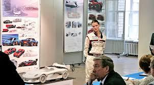 Лучшие дипломные проекты молодых автодизайнеров в Строгановке  Трековый спорткар porsche проект Полины Салминой