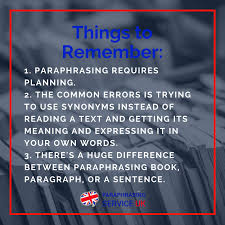rewrite easy follow this advice paraphrasing service uk things to remember when paraphrasing