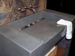 Unique Concrete Bathroom Vanity Countertop Design