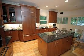 Teak Wood Kitchen Cabinets Corner Light Brown Wooden Kitchen Cabinet Combined With Drawers