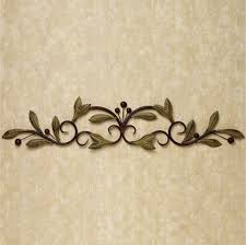Metal Kitchen Wall Art Decor Decoration Classy Garland Shape Leafage Shapes For Kitchen And