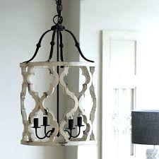 new distressed white chandelier or vintage carved wood 4 light lantern farmhouse in fresh chan