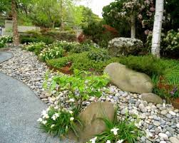 River rock gardens