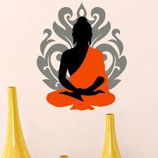 Asian Paints <b>Wall</b> Ons Orange <b>Buddha</b> Sitting <b>Wall</b> Sticker