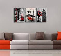 3 piece wall art set black and white