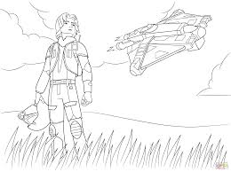 Small Picture Star Wars Rebel Ezra Bridger coloring page Free Printable