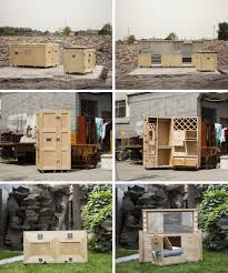packing crate furniture. Secret Furniture Created From Wooden Shipping Crates. Packing Crate T
