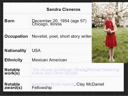 sandra cisneros only daughter essay analysis template power  sandra cisneros and sherman alexie essay sample bla bla writing