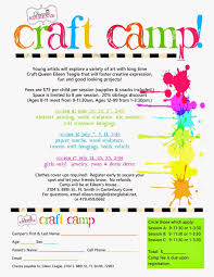 crafts classes for kids flyers queenie eileenie announcing summer craft camp and artie partie
