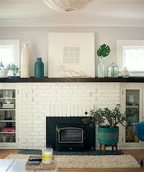 blog westelm com eclectic bungalow milwaukee white painted brick fireplace