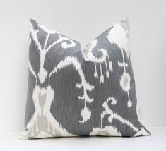 gray pillow shams. Plain Pillow 26x26 Euro ShamsEuro Pillow CoverIkat PillowDark Gray PillowGrey  And White 26x26Floor CushionsHome Decor Printed Fabric On Both Sides To Shams W