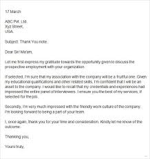 Thank You Letter After Group Interview Sample