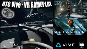 htc vive virtual reality video gaming system. detached vr gameplay on htc vive - amazing space exploration game in virtual reality! htc reality video gaming system
