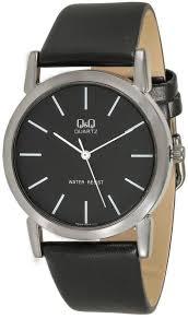 q q men s black dial leather band watch q662j502y price review q q men s black dial leather band watch q662j502y