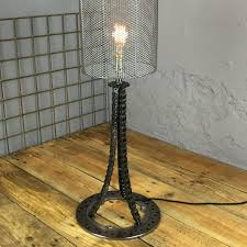 reclaimed industrial lighting. Reclaimed Industrial Lighting. Plain Lighting Bespoke Chain And Sprocket Table Lamp
