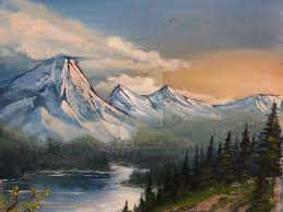 landscape oil painting by black wing24