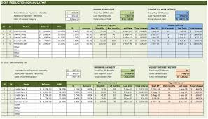 Debt Payoff Excel Excel Debt Reduction Template Rome Fontanacountryinn Com