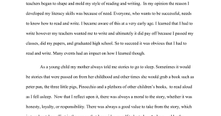 literacy narrative google docs