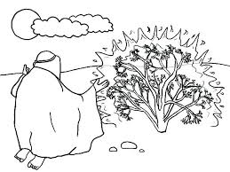 Moses Coloring Pages Burning Bush Burning Bush Coloring Page Burning