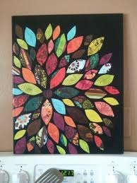 canvas and sbook paper wall art