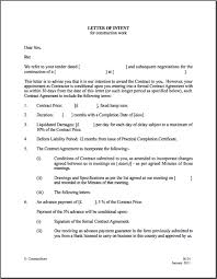 Printable Sample Letter Of Intent Template Form In 2019