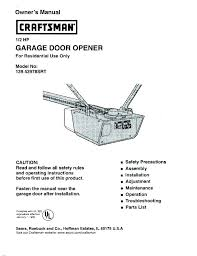 sear craftsman garage door opener troubleshooting sears craftsman garage door opener problems
