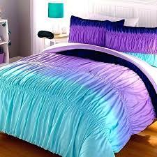 blue ombre ruffle bedding bed dark grey tween girl comforter aqua purple ruched chevron shams sheets home sequin set