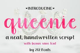 A collection of printable letter and number patterns to use for crafts, scrapbooking, stencils, and more. Queenie Font By 212 Fonts Creative Fabrica Handwritten Fonts Lettering Best Free Fonts