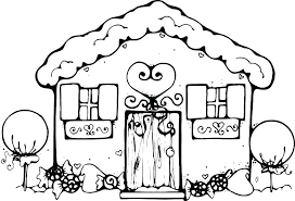 Coloring Pages Gingerbread House Freericardopalmeraorg