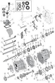 jeep ax transmission parts for wrangler tj yj aisin ax15 transmission exploded view diagram