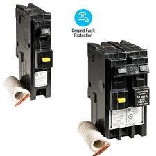square d homeline 40 amp 2 pole gfci circuit breaker hom240gfic choose between single pole or 2 pole homeline gfci breakers