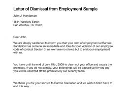 sample letters of termination 12 sample letters of dismissal sample letters word
